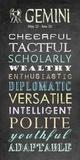 Gemini Character Traits Chalkboard