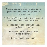 Ten Commandments 1-5