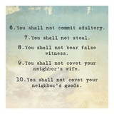 Ten Commandments 6-10