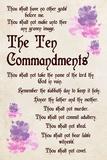 The Ten Commandments - Floral