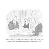 """""""Hillary Clinton has passed the first test  but we'll see if it's really p…"""" - Cartoon"""
