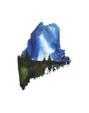 Maine State Watercolor