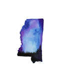 Mississippi State Watercolor