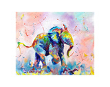 Colorful Elephant Reproduction d'art par Sarah Stribbling