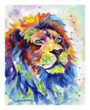 Colorful African Lion Reproduction d'art par Sarah Stribbling