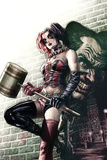 Batman Comics Art Featuring Harley Quinn