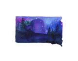 South Dakota State Watercolor