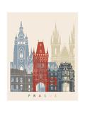 Prague Skyline Poster