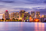 West Palm Beach  Florida  USA Downtown Skyline