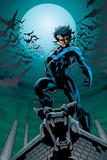 Batman Comics Art Featuring Nightwing