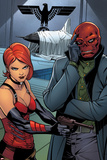 Uncanny Avengers No 6 Panel Featuring Sin  Red Skull