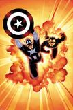 Captain America: Sam Wilson No 7 Cover Featuring Captain America  Bucky Barnes