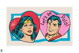 DC Comics Art - Vintage Valentine Featuring Wonder Woman