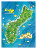 Map of Guam  USA - Where America's Day Begins