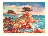 Monterey Coastline  California - United Air Lines Calendar Page