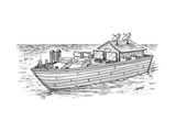 Noah's ark with pairs of home appliances instead of animals - New Yorker Cartoon
