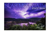 Bear Mountain State Park  New York - Purple Sky and Lightning