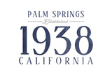Palm Springs  California - Established Date (Blue)
