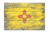 Red River  New Mexico - State Flag - Barnwood Painting