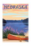 Nebraska - Canoe and Lake
