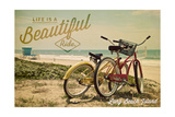 Long Beach Island  New Jersey - Bicycles and Beach Scene