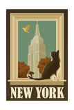 New York  New York - Empire State Buildin and Cat Window