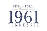 Pigeon Forge  Tennessee - Established Date (Blue)