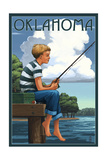 Oklahoma - Boy Fishing