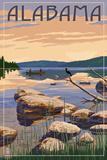 Alabama - Lake Sunrise Scene