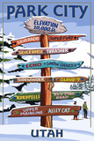 Park City  Utah - Ski Signpost