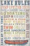 Lake Rules - Barnwood Painting