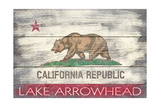 Lake Arrowhead  California - Barnwood State Flag