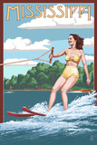 Mississippi - Water Skier and Lake