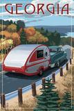 Georgia - Retro Camper on Road