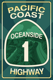 Highway 1  California - Oceanside - Pacific Coast Highway Sign