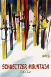 Schweitzer Mountain  Idaho - Colorful Skis