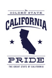 California State Pride - Blue on White