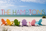The Hamptons  New York - Colorful Beach Chairs