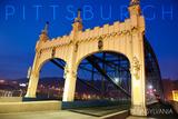 Pittsburgh  Pennsylvania - Old Bridge at Night