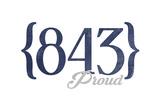 Myrtle Beach  South Carolina - 843 Area Code (Blue)
