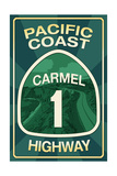 Highway 1  California - Carmel - Pacific Coast Highway Sign
