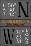 Annapolis  Maryland - Latitude and Longitude (MD Colors)