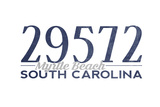 Myrtle Beach  South Carolina - 29572 Zip Code (Blue)