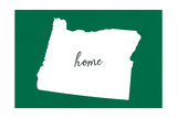 Oregon - Home State - White on Green