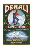 Denali National Park  Alaska - Denali Climbers Vintage Sign