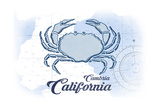 Cambria  California - Crab - Blue - Coastal Icon