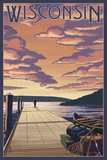 Wisconsin - Dock Scene and Lake