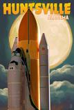 Huntsville  Alabama - Space Shuttle and Full Moon
