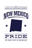 New Mexico State Pride - Blue on White