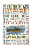 Fishing Rules - Barnwood Painting